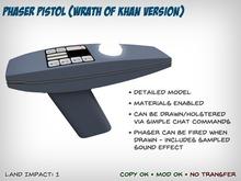 Star Trek Phaser Pistol (Wrath of Khan version)