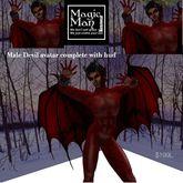 Complete Male devil avatar costume