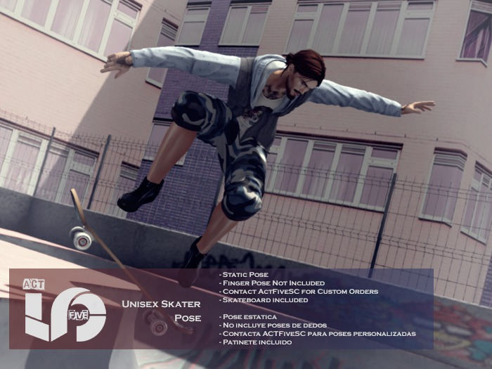 ACT5-26-UNISEX Skater Pose BOXED