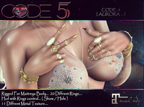 CODE-5 [ AURORA ] Rings Set Maitreya V0.01