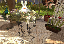 CJ Easter Iron Planter full of Eggs Box - add