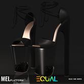 EQUAL - Mel Platforms BLACK