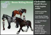 ~*WH*~ Bento Riding Horse (English Clydesdale) 1.0