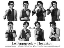 Le Poppycock *Headshot* Set A