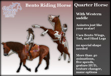 ~*WH*~ Riding Horse (Western Quarter Horse) 1.0 (Rez or wear)