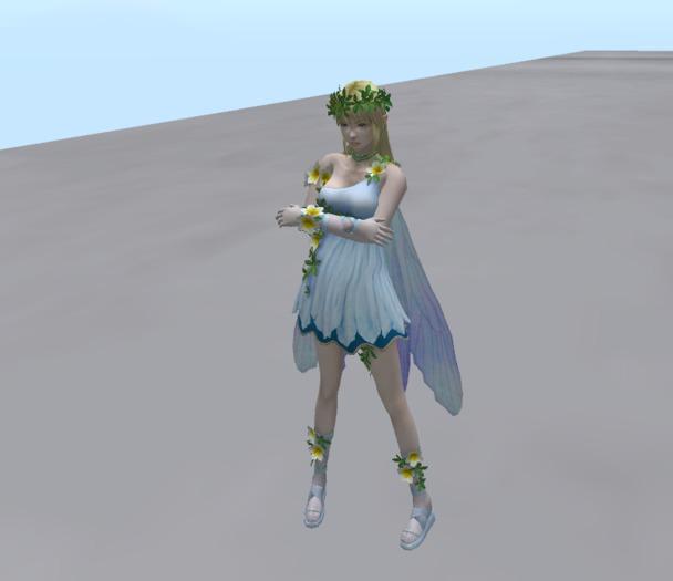Fairy Girl tiny animesh standing flirt ao