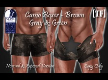 CAMO BOXERS [SLINK] 3 Colors [TF] - [Wear to Unpack]