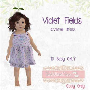 TPT - Violet Fields Overall dress - TD Baby