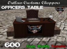 Route 84 Customs - MC Office Table