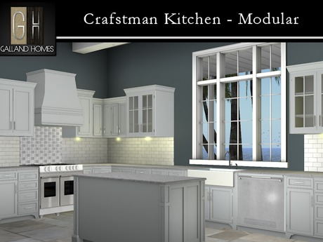 Second Life Marketplace Craftsman Kitchen By Galland Homes Modular Mesh Kitchen Design