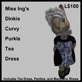 Miss Ing's Dinkie Curvey Purkle Tea Dress Boxed