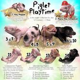 JIAN Playtime Piglets 1. Hay Napper BOX RARE