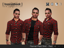 Flannel Plaid Shirt - Red - Signature, Belleza, SLink & CA