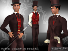 !!Cattivo - Thadicus Victorian Suit in Burgundy and Burgundy
