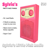 Sylvia's little pink radio