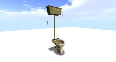 Old toilet bowl Mesh