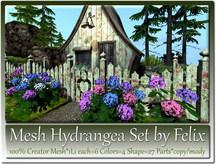 Mesh Hydrangea Set by Felix 1Li each=6 Colors=4 Shape=27 Parts
