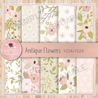 Antique Flowers Textures