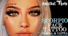 [Suicidal Thots] Scorpio Face Tattoo (rez & open)