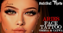 [Suicidal Thots] Aries Face Tattoo (rez & open)