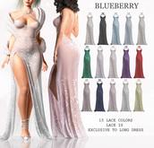 Blueberry - Demi - Long Lace Dresses - Mini Pack