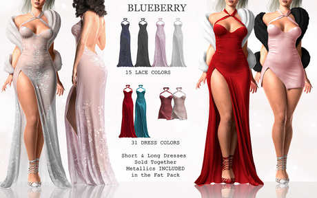 Blueberry - Demi - Long & Short Dresses - Fat Pack