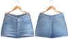 Blueberry - Pia - High Waist - Denim Shorts - Beach Blue