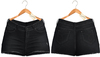 Blueberry - Pia - High Waist - Denim Shorts - Black