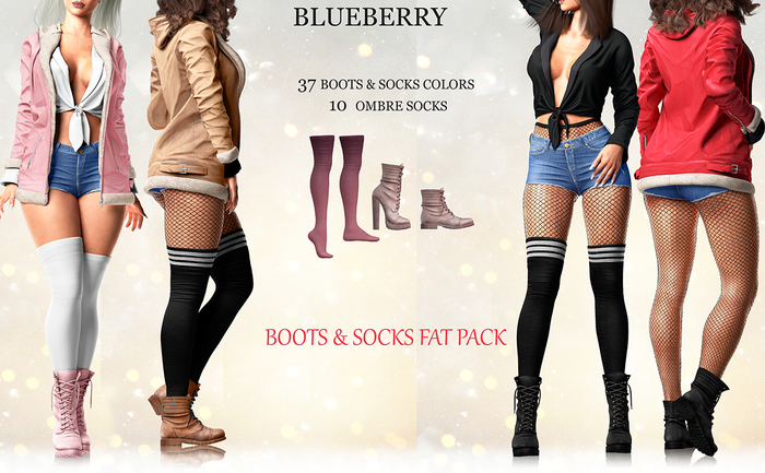 Blueberry - Pia - Boots & Socks - Fat Packs