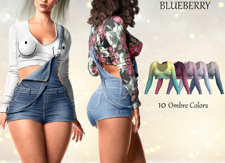 Blueberry - Ivy - Cropped Top - Ombre Pack