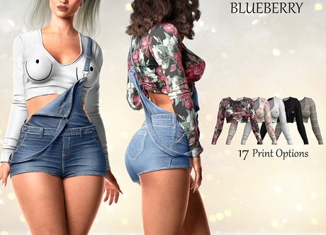 Blueberry - Ivy - Cropped Top - Prints Pack