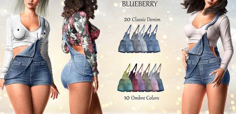 Blueberry - Ivy - Denim Ovarall - Fat Pack