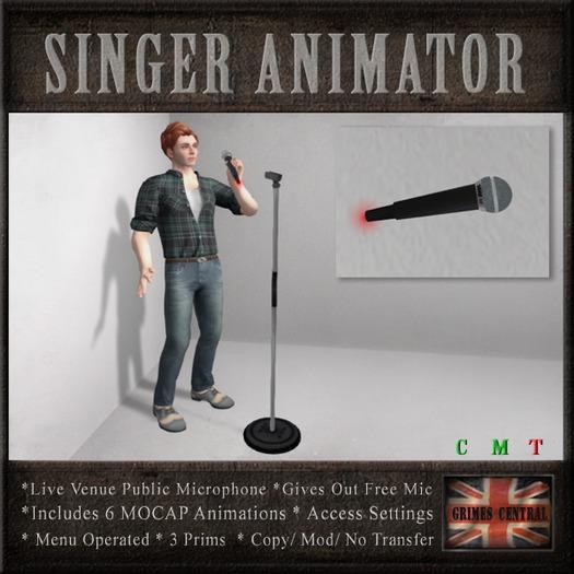 Microphone for Karaoke / Singing Live Venues (6 MOCAP Animations)
