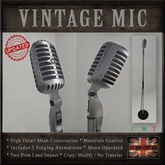 Vintage Microphone / Retro Mic & Stand