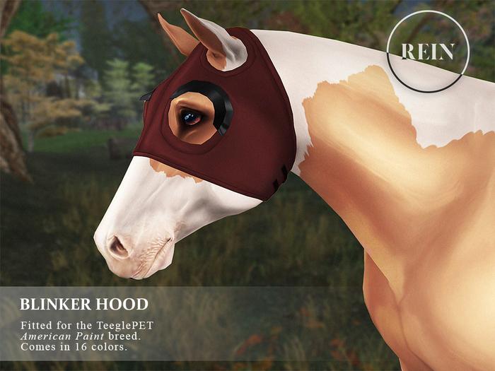 REIN - TeeglePet Blinker Hood AMERICAN PAINT