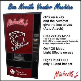 Michelle's Noodle Box Vendor Machine