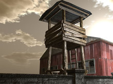 Military Tower  - HD Textures - Low Prim