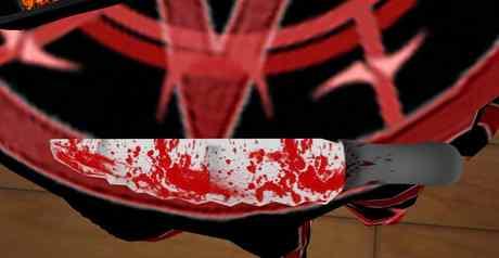 WAVY EDGE KNIFE BLOODY