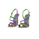 .:ENVIEE:. Metallic Leather Goddess Sandal {Neon}