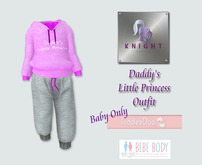 [KNIGHT DESIGNS] DADDY'S LITTLE PRINCESS OUTFIT - BEBE & TD BABY