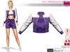 Full Perm Purple Sports Runner Tracksuit Top Jacket Maitreya, Slink, Ocacin, Belleza, Tonic, Classic