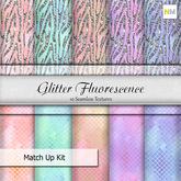 Glitter Fluorescence Matchup Kit 10 Seamless Fabric Textures NM