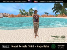 Gaagii - Maori Shirt - Paka Haka - female (add.wear) - female