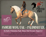 The Painted Pony~ Palomino Fade WH Animesh Mane/Tail, for the *WH* Animesh horses