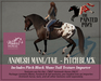The Painted Pony~ Pitch Black WH Animesh Mane/Tail, for the *WH* Animesh horses