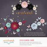 {moss&mink} Paper Flowers - Pack1