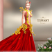 ::TD:: Blossom Gown with Appliers ~ Red