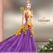 ::TD:: Blossom Gown with Appliers ~ Purple