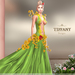 ::TD:: Blossom Gown with Appliers ~ Green