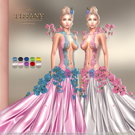 ::TD:: Blossom Gown with Appliers ~ FATPACK